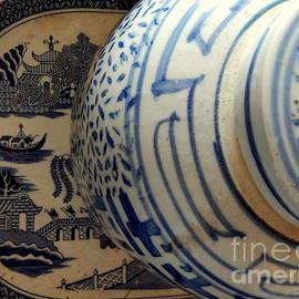 Michael Hoard - Ginger Jar Still Life Of Blue Perspectives