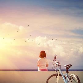 Carlos Caetano - Girl and Bicycle