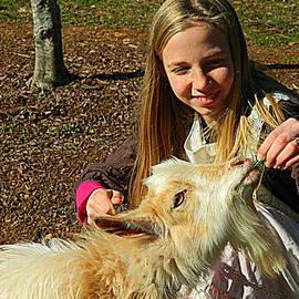 Kathy Barney - Girl and Goat