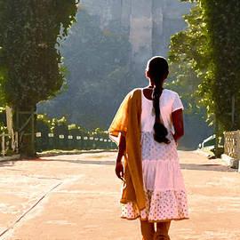 Dominique Amendola - Girl walking in the park