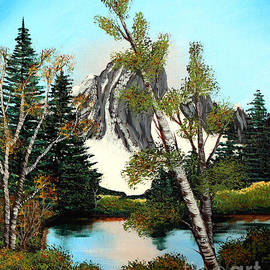 Barbara Griffin - Glacier Peak after Bob Ross