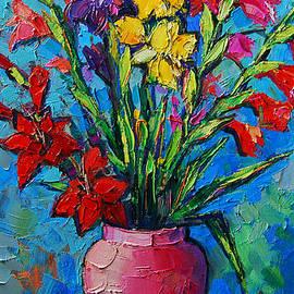 Mona Edulesco - Gladioli In A Vase
