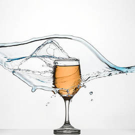 Andy Astbury - Glass of White Wine with splash.
