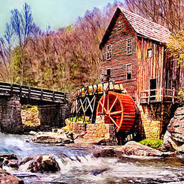 Bob and Nadine Johnston - Glen Creek Grist Mill Painting