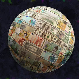 Georgeta Blanaru - Globe Currency Digital artwork