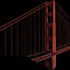 Patrick Jacquet - Glowing Golden Gate bridge