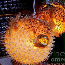 ARTography by Pamela  Smale Williams - Glowing Pufferfish