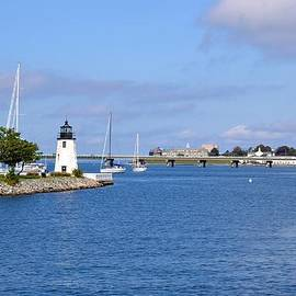 Krystal Goldie - Goat Island Lighthouse in Newport Rhode Island