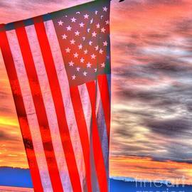 Tap  On Photo - God Bless America Over Puget Sound