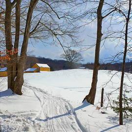 Marcel  J Goetz  Sr - Gold Barn On The Hill