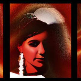 Terril Heilman - Golden Dancers Triptych