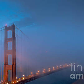 Along The Trail - Golden Gate at Blue Hour