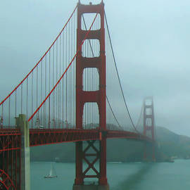 Connie Fox - Golden Gate Bridge and Partial Arch in Color