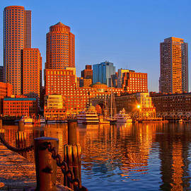Joann Vitali - Golden Glow over Boston Harbor