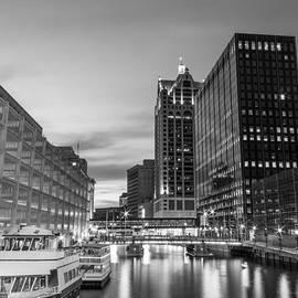 Andrew Slater - Golden Hour Milwaukee River BW
