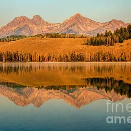 Robert Bales - Golden Mountains  Reflection