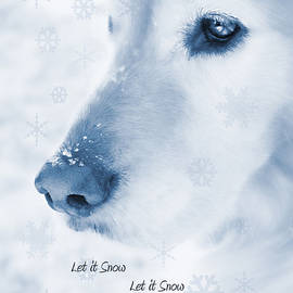 Jennie Marie Schell - Golden Retriever Dog Let it Snow Holiday Card