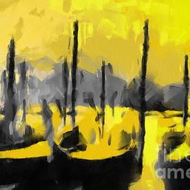 Stefania Vignotto - Gondolas in yellow