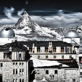 Adele Buttolph - Gornergrat Kulm Hotel and Observatory with Matterhorn