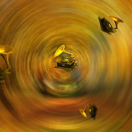 larisa Fedotova - Gramophone on an abstract background