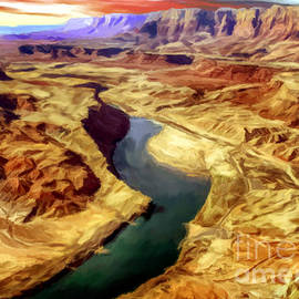 Bob and Nadine Johnston - Grand Canyon Lees Ferry Painting