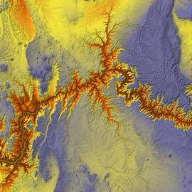 Paul Hein - Grand Canyon Map Art