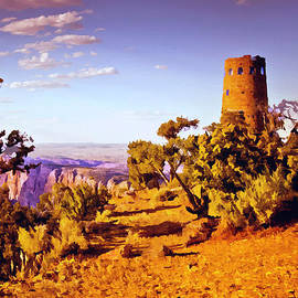 Bob and Nadine Johnston - Grand Canyon National Park Golden Hour Watchtower