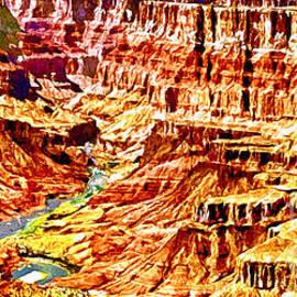 Bob and Nadine Johnston - Grand Canyon Navajo Painting