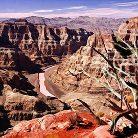 Bob and Nadine Johnston - Grand Canyon West Painting