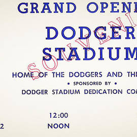 Digital Reproductions - Grand Opening Dodger Stadium Ticket Stub 1962