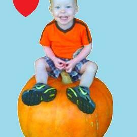 Bruce Nutting - Grandson Riding a Pumpkin