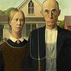 Movie Poster Prints - Grant Wood American Gothic 1930