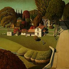 Movie Poster Prints - Grant Wood Birthplace of Herbert Hoover 1931