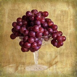Sandra Foster - Grapes And Crystal Still Life