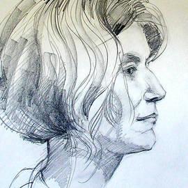 Greta Corens - Portrait Drawing of a Woman in Profile