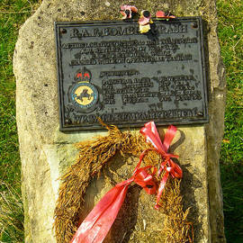 Robert Ford - Gravestone and Monument to RAF Crash Site World War Two Broadway Towers Cotswold District England