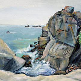 Asha Carolyn Young - Gray Rocks and Sky at Gerstle Cove