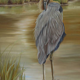 Phyllis Beiser - Great Blue Heron At Half Moon Island