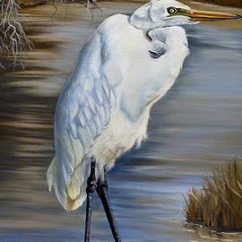 Phyllis Beiser - Great Egret At Sylvia