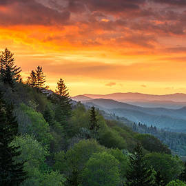 Dave Allen - Great Smoky Mountains North Carolina Scenic Landscape Cherokee Rising