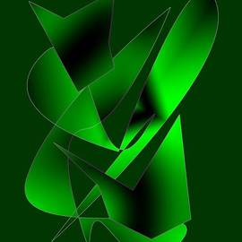 Mario  Perez - Green Abstract Art