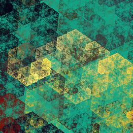 Andee Design - Green Hexagon Fractal Art 3 Of 3