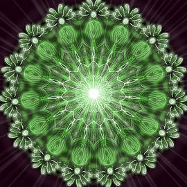 Michael African Visions - Green Light Mandala