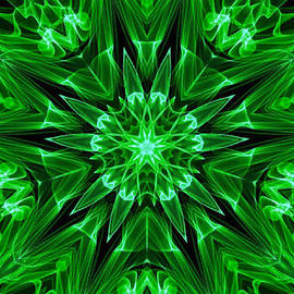 Bruce Nutting - Green Star of Flames