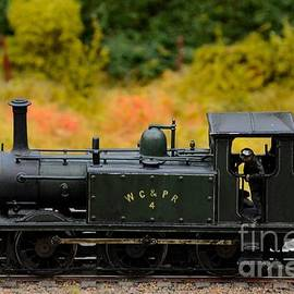 Imran Ahmed - Green weathered steam engine with driver model train