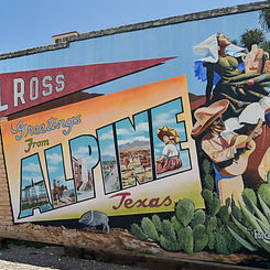 Allen Sheffield - Greetings  from Alpine Texas Mural
