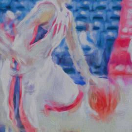David Haskett - Gretchen Gaskin Digitally Painted IUPUI Basketball Star