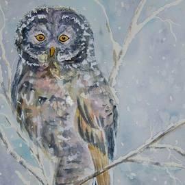 Ellen Levinson - Great Gray Owl On A Snowy Day