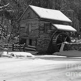 Paul Ward - Grist Mill Winter in Black and White