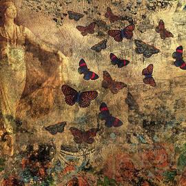 Peggy Collins - Grunge Vintage Collage - The Dancer